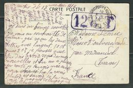 MAROC 1914 CPA 128°T - Marcophilie (Lettres)