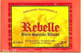 Etiquette De Biere :REBELLE - Bière
