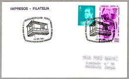 Matasellos IBEROAMERICA'85 PERU - CANARIOS EN AMERICA. Las Palmas G.C., Canarias, 1985 - 1931-Hoy: 2ª República - ... Juan Carlos I
