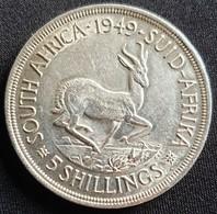 SOUTH AFRICA 5 SHILLINGS 1949   -  SILVER - Afrique Du Sud