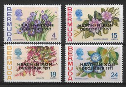 BERMUDA 1971 FLOWERS ,Heath-Nixon Meeting  SURCHARGED - Altri