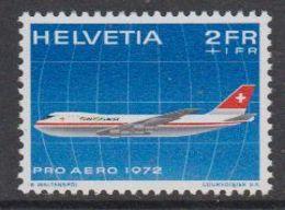 Switzerland 1972 Pro Aero 1v  ** Mnh (42194) - Nuevos