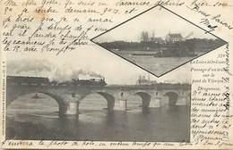 -dpts Div.-ref-AH72- Loiret - Orléans -la Loire A Orléans -train Sur Le Pont De Vierzon - Trains -ligne De Chemin De Fer - Orleans