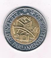 500 LIRE 1999 ITALIE /2339/ - 1946-…: Republik