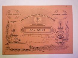 GP 2019 - 618  BON POINT  De L'Immaculée Conception De  GOURDON  (Lot)   1919   XXX - Old Paper