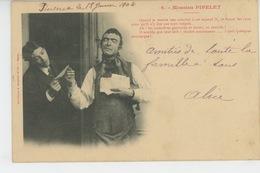 "HOMMES - Jolie Carte Fantaisie Homme ""MOSSIEU PIPELET - N°6 "" -Edit. BERGERET - Hommes"