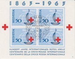 Switzerland 1963 Red Cross M/s Used 1st Day (42195) - Blokken
