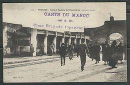 MAROC 191? CPA Mogador Carte Du Maroc Brigade Topographique - Marcophilie (Lettres)