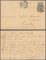 """BELGIQUE EP 5c VERT  OBL RELAIS """"COOLSCAMP"""" 18/12/1899 VERS COURTRAI (DD) DC-2374 - Postwaardestukken"""