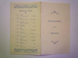 GP 2019 - 620  Programme Des  DANSES  (2 Volets)   XXX - Vieux Papiers