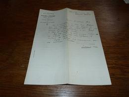 FF6  Document Commercial Facture Vin Drumos Allard & Colinet Gilly 1900 Pilules Du Dr Noël - Belgique