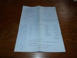 FF6  Document Commercial Facture J. Allard Montigny Sur Sambre Montignies Sur Sambre 1900 - Belgique