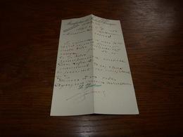 FF6  Document Commercial Facture Manufacture De Produits Chimiques Auby Nord 1900 - Belgique