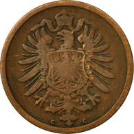 Monnaie, GERMANY - EMPIRE, Wilhelm I, 2 Pfennig, 1875, Frankfurt, TB+, Cuivre - [ 2] 1871-1918: Deutsches Kaiserreich