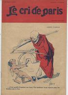 Mort Squelette Le Cri De Paris N° 1562 De 1927 - Journaux - Quotidiens