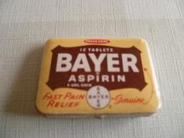 """Boite Métallique à Charnière Médicament """" Bayer Aspirin """" - Boxes"""