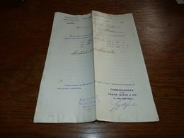FF6  Document Commercial Facture Farbenfabriken Elberfeld 1901 - Belgique