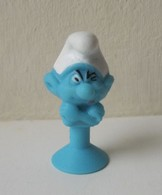 - SCHTROUMPFS - Le Schtroumpf Costaud - Micro Popz. Super U - Peyo - - Smurfs