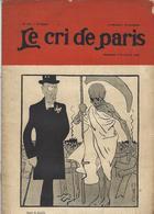 Mort Squelette Le Cri De Paris N° 302 De 1902 Valotton En Dernière De Couverture - Journaux - Quotidiens