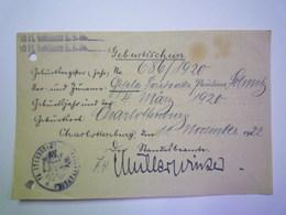GP 2019 - 625  GEBURTSSCHEIN  Charlottenburg  1922   XXX - Old Paper