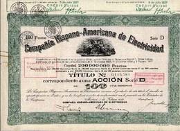 Argentine: COMPANIA HISPANO-AMERICANA De ELECTRICIDAD - Actions & Titres