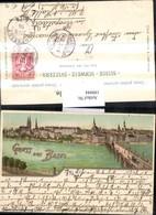 199944,Litho AK Gruß Aus Basel Teilansicht Brücke Kirche Münster - Brücken
