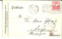 """Westafrikanische Pflanzungs-Gesellschaft """" Victoria"""" Berlin. à Vix Bara Fils & Co. Avize Champagne. Charlottenburg.1911. - Charlottenburg"""