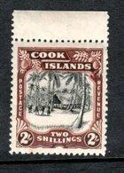 Cook Islands 1945 - 2/- Black & Red-brown Wmk 98 Sideways SG144 MNH Cat £38 SG2018 1840-1970 - See Description Below - Cook
