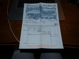 FF6  Document Commercial Facture Farbenfabriken Elberfeld 1901 Très Belle Lithographie - Belgique