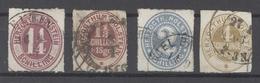Schleswig Holstein Mi.Nr. 22-25 Freimarken 1865-66 Gestempelt (26333) - Schleswig-Holstein