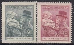 CZECHOSLOVAKIA 389-390,unused - Timbres