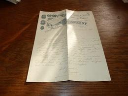 Document Commercial Facture P Baudot Fabrique Conserves De Fruits Et Marrons Boulogne Sur Seine 1899 Lithographie - Belgique