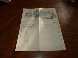 Document  Facture Gaston Beguin Marchienne Au Pont 1901 Manufacture De Bouchons Lithographie Palafrugell & Palamos - Belgique