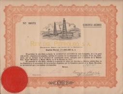 E1251 CUBA OLD DOC REY DEL PETROLEUM. 1917. 500 ACCIONES. - Unclassified