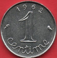 RARE 1 Centime épi 1962 Rebord Sous La Feuille Et Dans Le M - A. 1 Centime