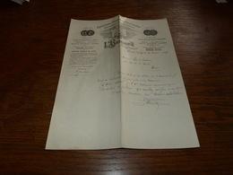 Document  Commercial Facture Léopold Bernard 1899 Phosphates De Chaux Mesvin Ciply - Belgique