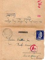 TB 2456 - MILITARIA - Lettre De Mr J. TISSIER à MOSBACH Pour BAILLY - CARROIS Par NANGIS - WW II