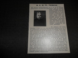 """Origineel Knipsel ( 2565 ) Uit Tijdschrift """" Ons Volk """"  1934 :   Pastoor Fierens  Sint - Jans - Molenbeek - Vieux Papiers"""