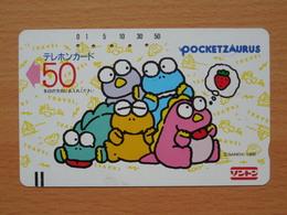 Japon Japan Free Front Bar, Balken Phonecard / 110-9576 / Pocketzaurus / Bandai - Games