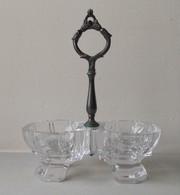 - Ancien Saleron En Verre - - Verre & Cristal