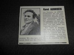 """Origineel Knipsel ( 2567 ) Uit Tijdschrift """" Ons Volk """"  1934 :   Karel Aubroeck   Temse  Temsche  Tamise - Vieux Papiers"""