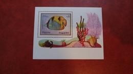 Fujeira 1972 -Marine Life - Perf Sheet Mi 108 A MNH - Fish Molluscs Shells - Fujeira