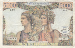 Billet 5000 F Terre Et Mer Du 7-2-1952 FAY 48.06 Alph. Q.99 - 5 000 F 1949-1957 ''Terre Et Mer''
