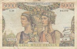 Billet 5000 F Terre Et Mer Du 1-2-1951 FAY 48.03 Alph. C.48 - 5 000 F 1949-1957 ''Terre Et Mer''