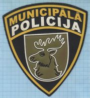 LATVIA / Patch Abzeichen Parche Ecusson /  Municipal Police. Jelgava. - Police & Gendarmerie