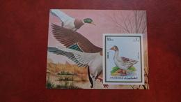 Fujeira 1972 - Animals - Imperf Sheet Mi 131 B MNH - Pets Ducks Birds House - Fujeira