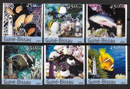 GUINEE BISSAU    N° 1696/01  * *  NON DENTELE Poissons Phares - Poissons