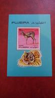 Fujeira 1971 - Wild Animals - Perf Sheet Mi 81 A MNH - Tiger Deer - Fujeira