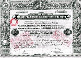 Argentine: FINANCIERA E IMMOBILIARA Del RIO DE LA PLATA - Actions & Titres