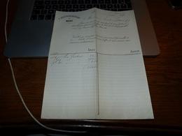 Document  Commercial Facture C. Bleunar Huwart Mons 1899 - Belgique